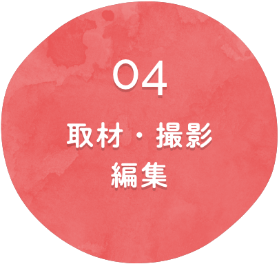 取材・撮影・編集